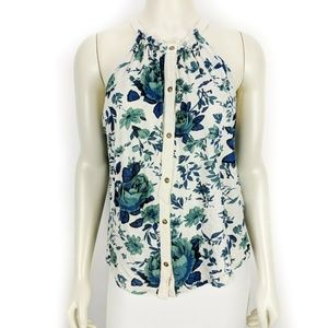 Lucky Brand Floral Sleeveless Halter Top Small